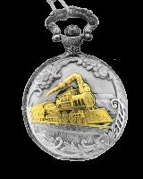 9100-SG  Train Pocket Watch
